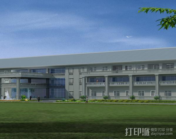 行政楼3D 模型 1:1 3D模型  图1