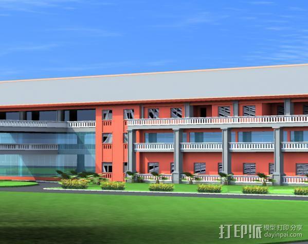 行政楼3D 模型 1:1 3D模型  图2