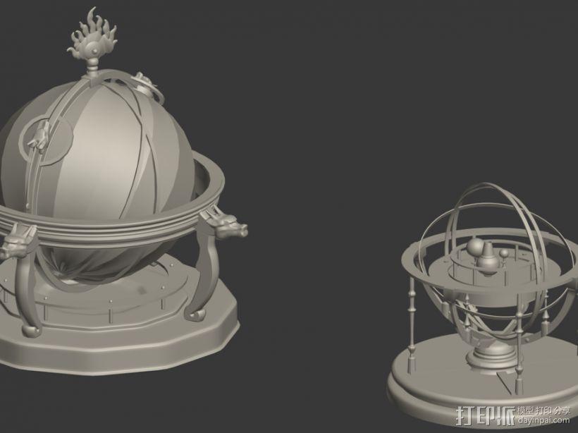 圆明园天文仪 地动仪 3D模型  图1