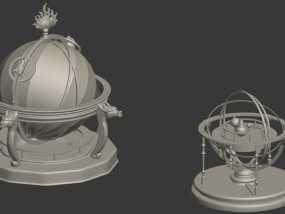 圆明园天文仪 地动仪 3D模型