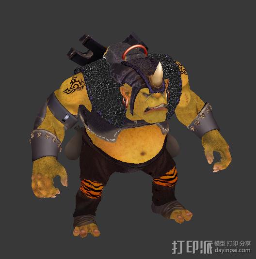 兽人 3D模型  图2