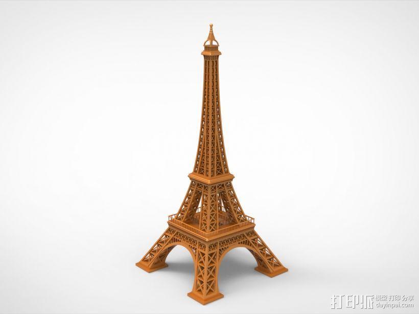 埃菲尔铁塔模型 3D模型  图1