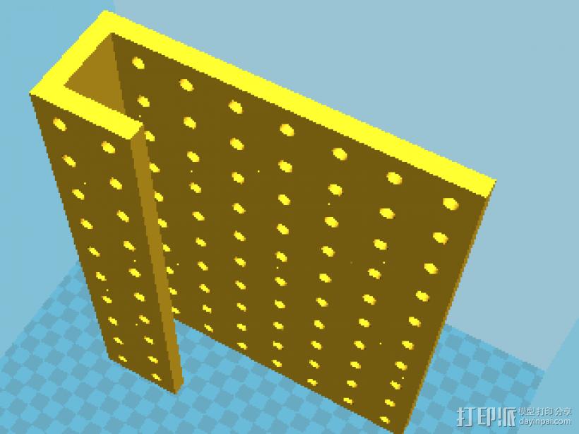 工具挂板pegboard 3D模型  图1
