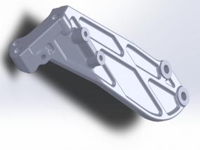庆铃-897084-3901 右加强板 3D模型