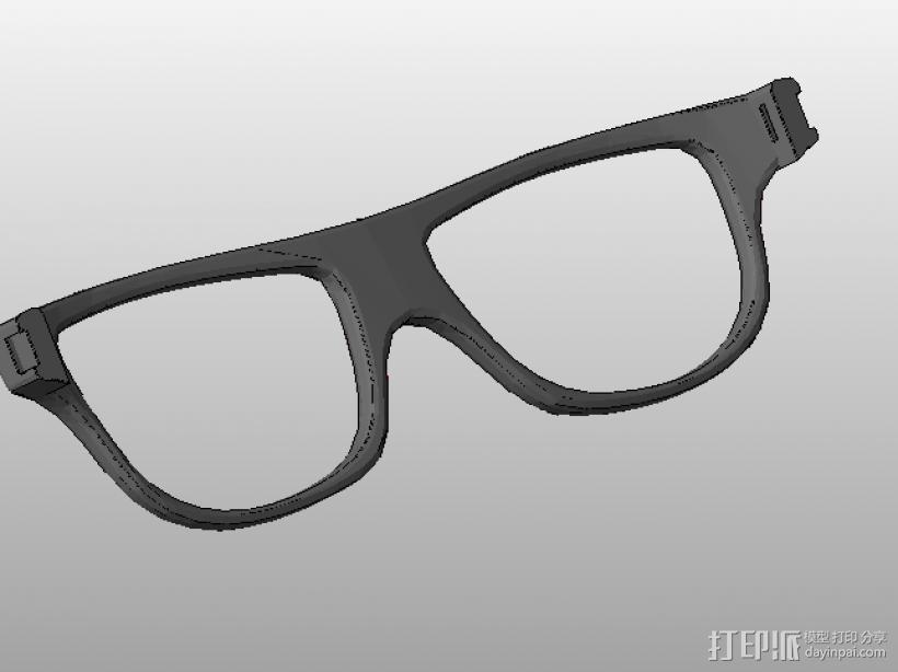 装饰镜框 眼镜框 组合眼镜框 三合一 3D模型  图1