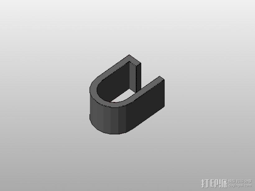 装饰镜框 链接支架 组合眼镜 三合一 3D模型  图1