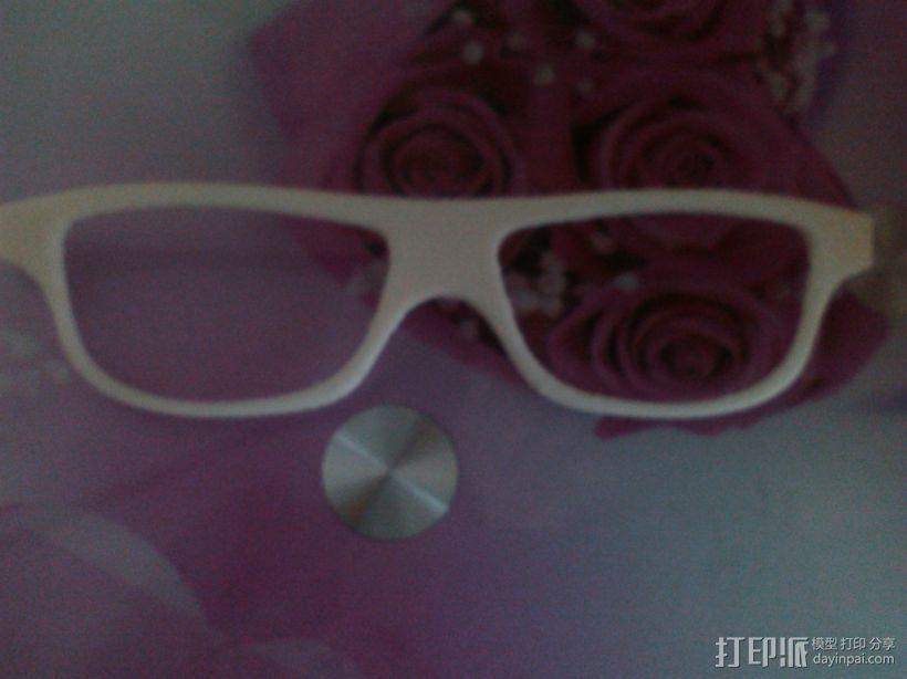 装饰镜框 眼镜框 组合眼镜框 三合一 3D模型  图2
