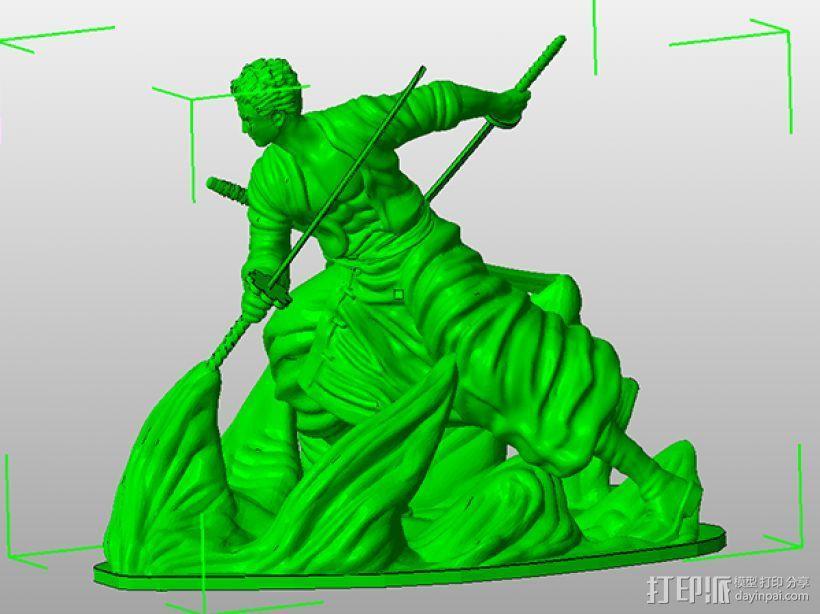 《海贼王》——罗罗亚·索隆 3D模型  图6