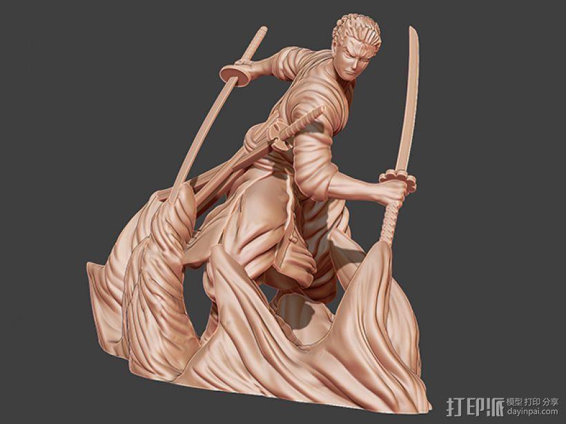 《海贼王》——罗罗亚·索隆 3D模型  图1