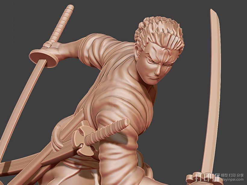 《海贼王》——罗罗亚·索隆 3D模型  图5