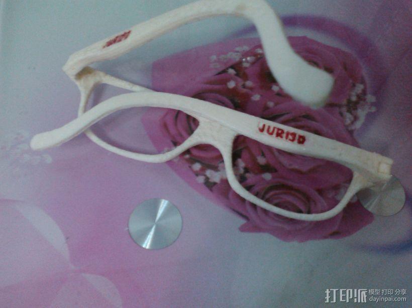 装饰镜框 眼镜腿 组合眼镜 三合一 3D模型  图3
