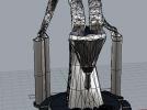 羊头雕塑 3D模型 图3