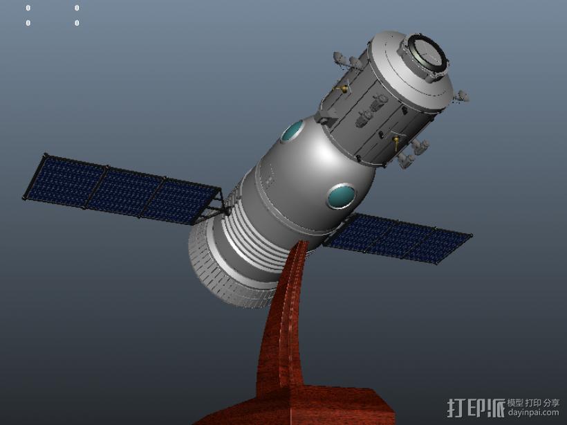 神舟飞船  卫星 摆件 3D模型  图2