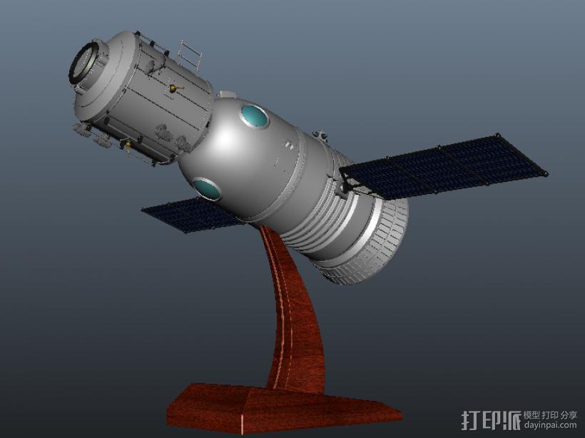 神舟飞船  卫星 摆件 3D模型  图3
