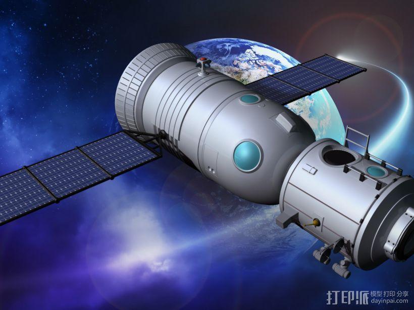 神舟飞船  卫星 摆件 3D模型  图6