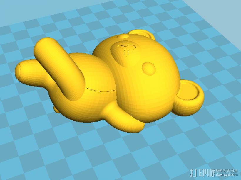 拉拉熊 3D模型  图2