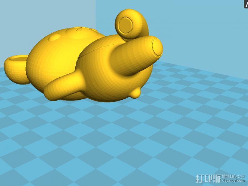 拉拉熊 3D模型  图1