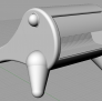 户外双人躺椅 3D模型 图1