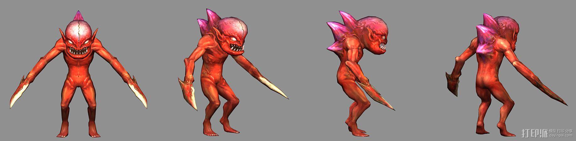 (混血灵魔)(血婴)(蓝魅猛犸) 3D模型  图2