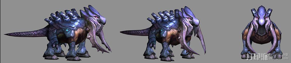 (混血灵魔)(血婴)(蓝魅猛犸) 3D模型  图3