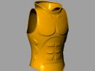 肌肉铠甲 3D模型 图1