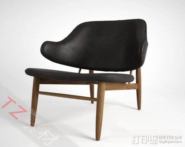 休闲椅 3D模型  图1