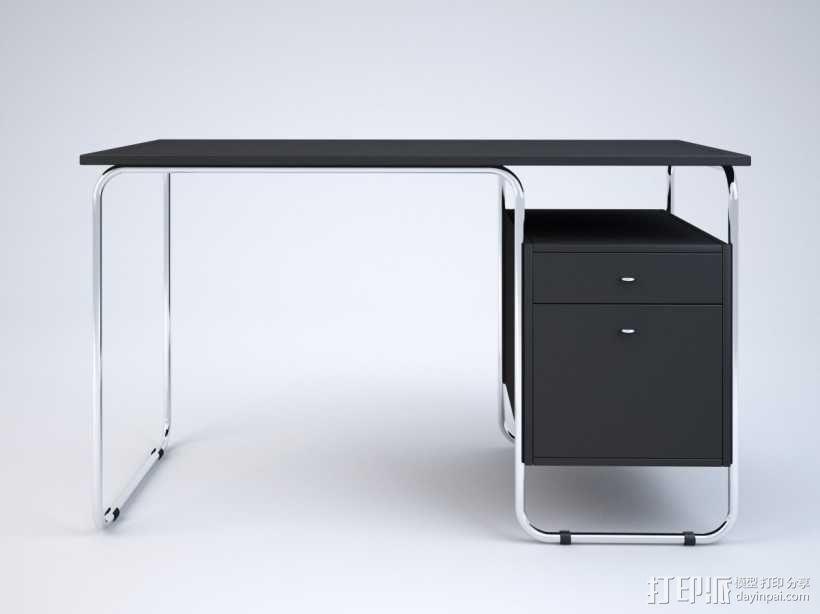 办工桌 3D模型  图1