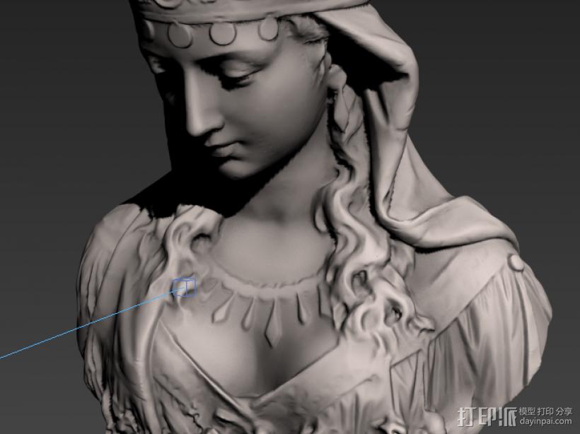 塑像 3D模型  图1