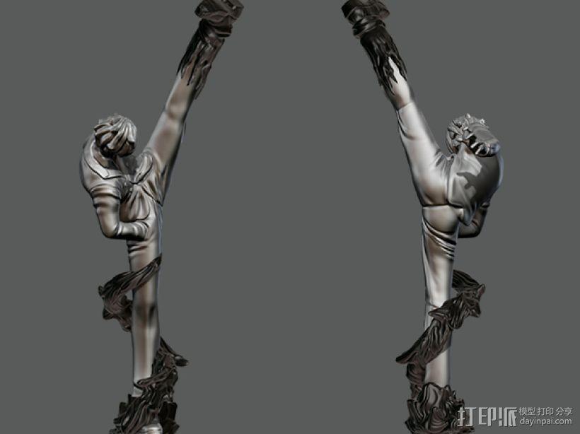 《海贼王》——山治(恶魔风脚!) 3D模型  图2