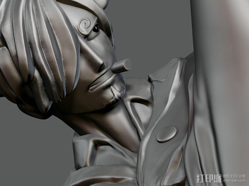 《海贼王》——山治(恶魔风脚!) 3D模型  图5