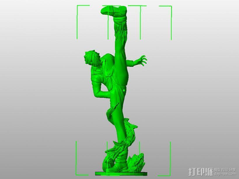 《海贼王》——山治(恶魔风脚!) 3D模型  图7