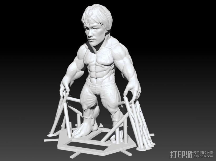 李小龙 3D模型  图1
