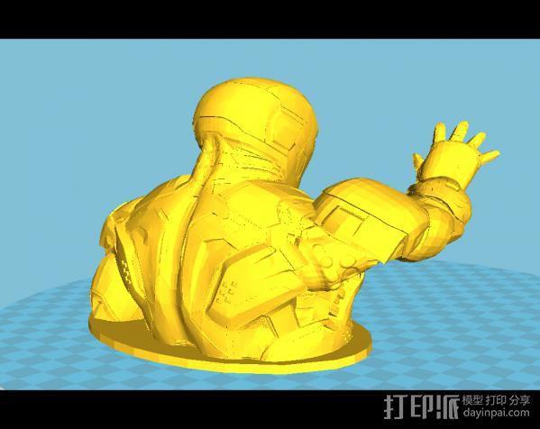 钢铁侠半身像 3D模型  图2