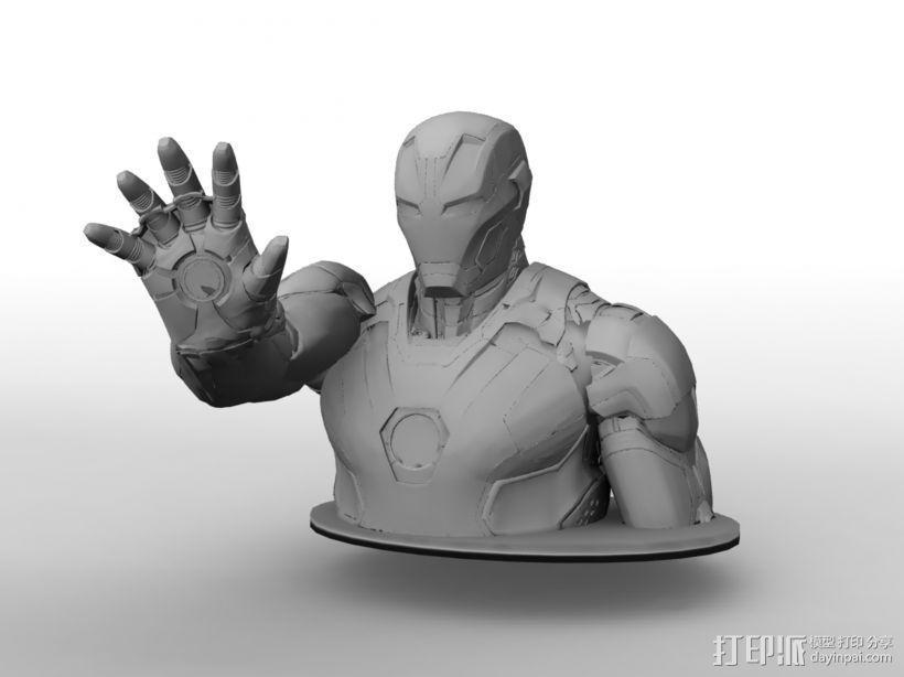 钢铁侠半身像 3D模型  图3