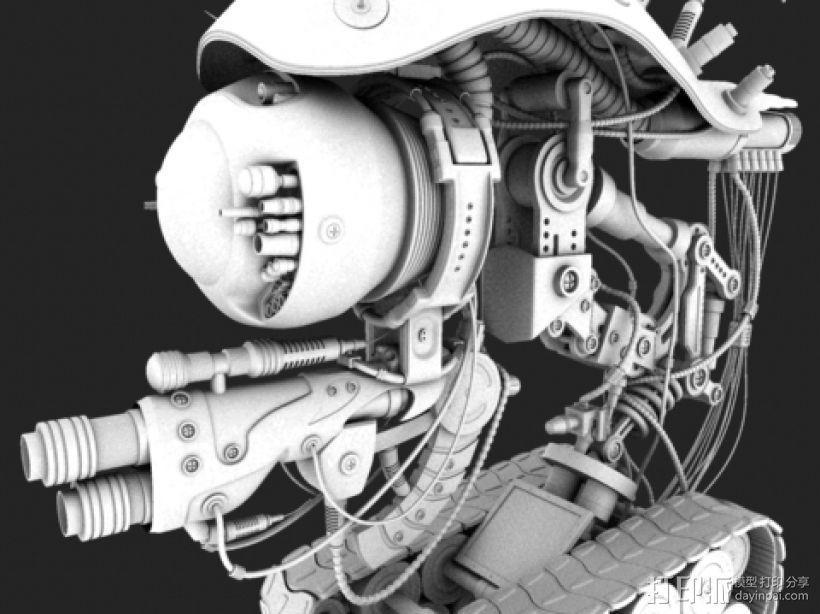 机械坦克 3D模型  图1