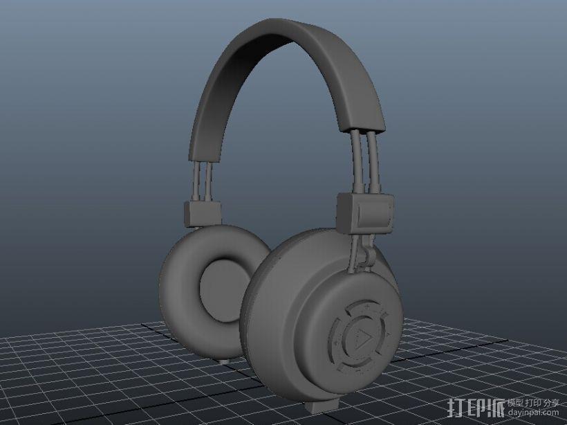 耳机 3D模型  图1