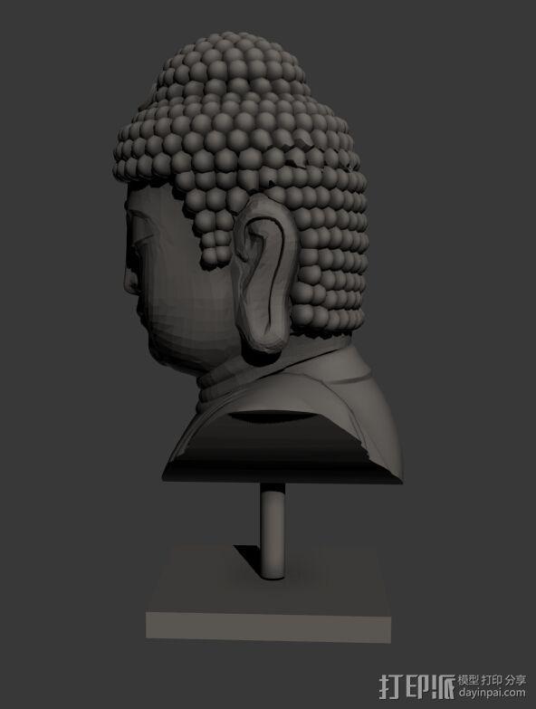 佛头   佛像头像 3D模型  图3