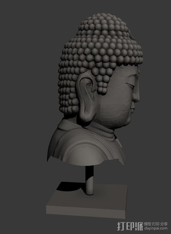佛头   佛像头像 3D模型  图4