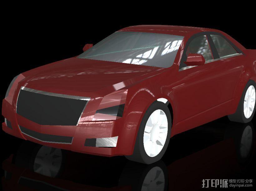 凯迪拉克 3D模型  图1