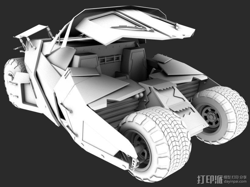 蝙蝠战车 3D模型  图1