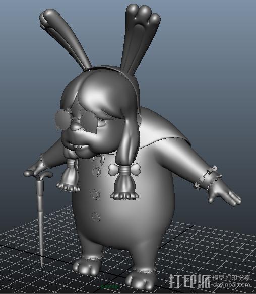 兔兔 3D模型  图2