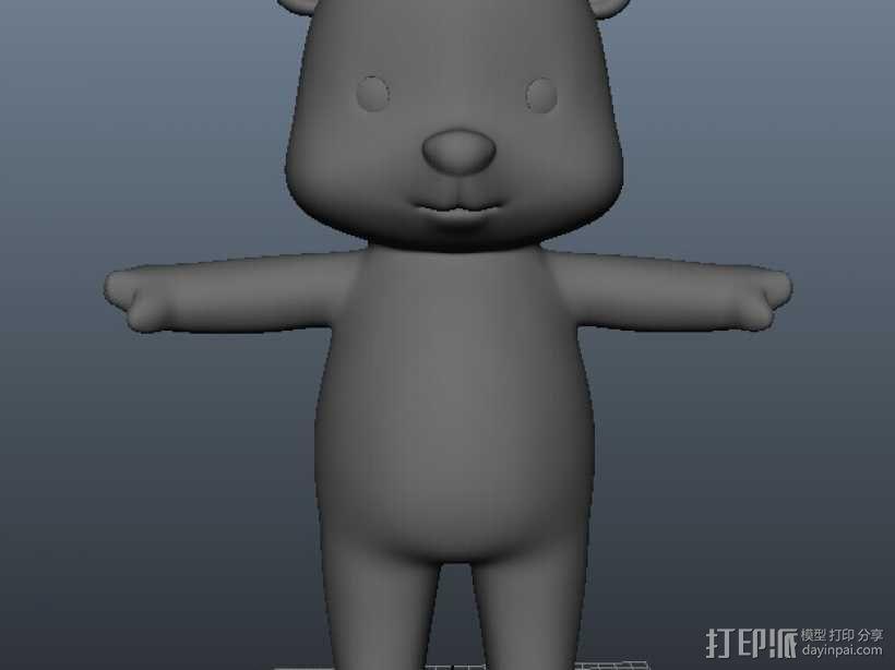 小熊 3D模型  图1