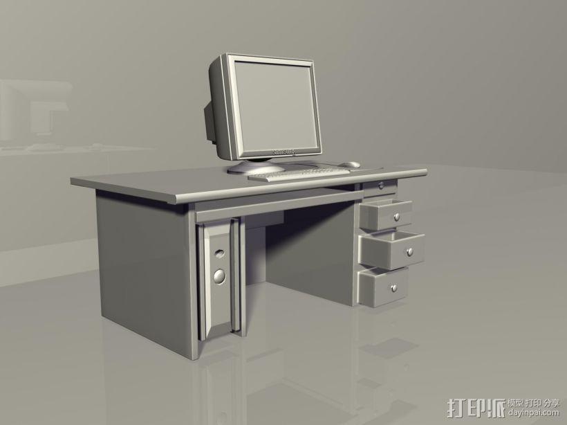 台式电脑 3D模型  图1