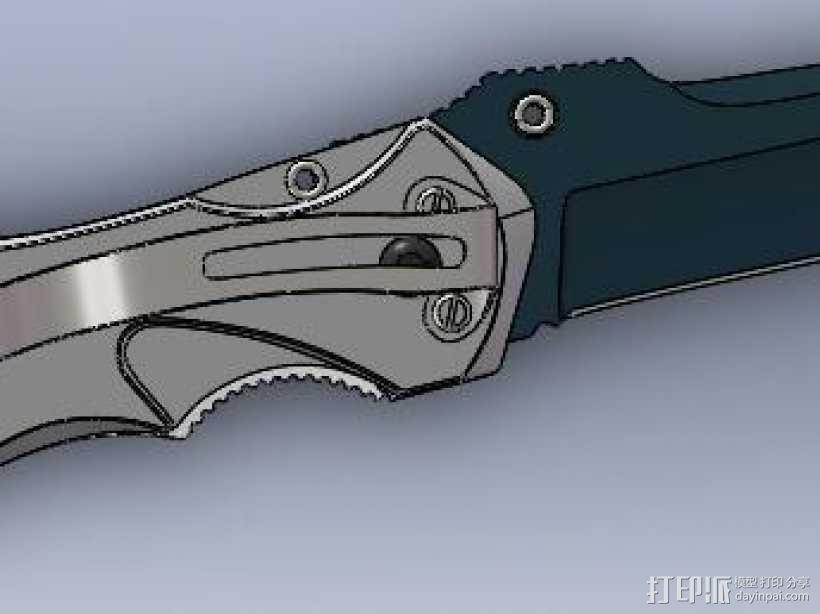 军刀 3D模型  图2
