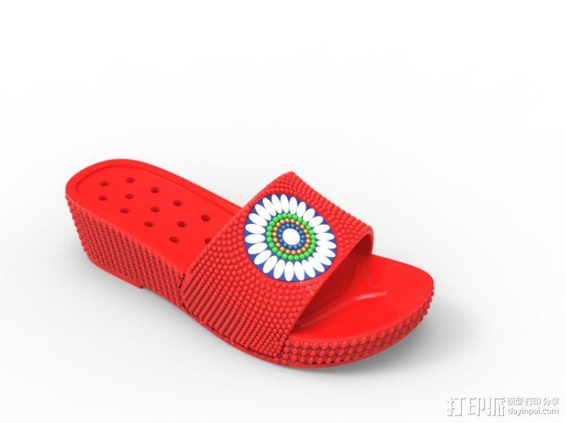 拖鞋效果图 3D模型  图1