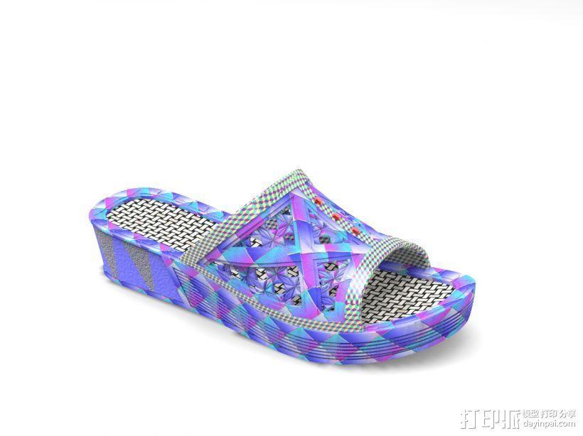 拖鞋效果图 3D模型  图2