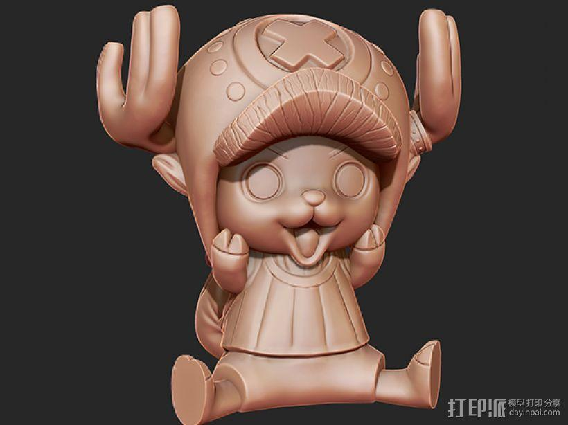 《海贼王》——托尼·托尼·乔巴 3D模型  图1