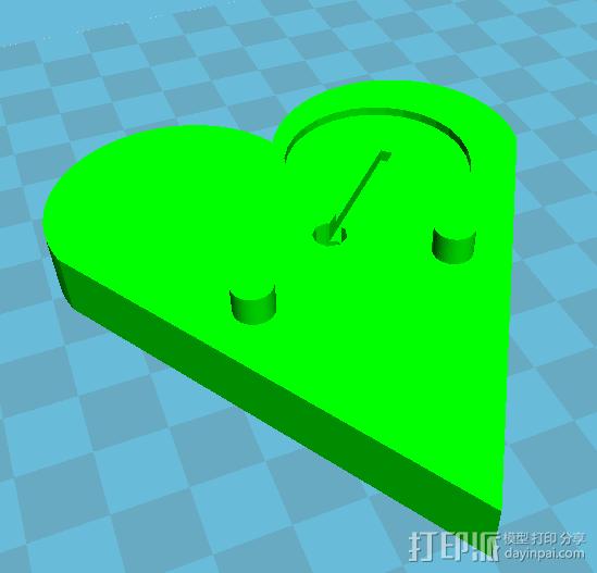 LED心形灯 3D模型  图1