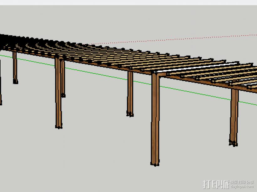 亭廊架 3D模型  图3
