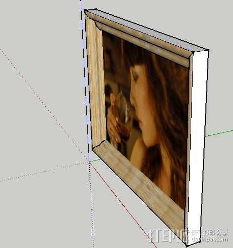 相框 3D模型  图2